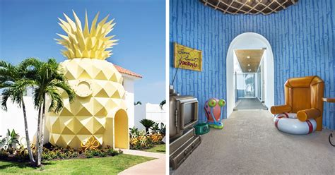 real life pineapple hotel  true spongebob fans