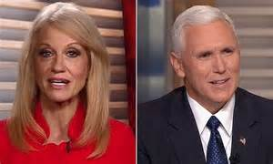 Mike Pence and Kelly Anne Conway