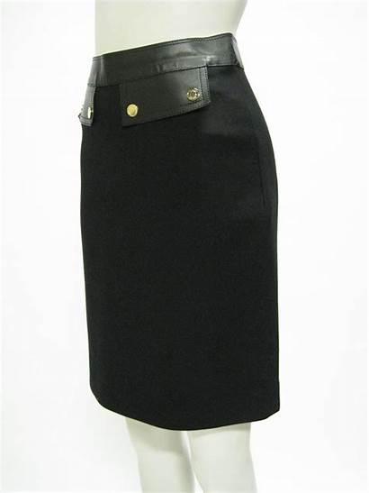 Skirt Gucci Wool Leather Pencil 1stdibs Skirts