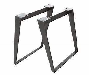 Tischgestell Metall Schwarz : tischgestell metall schwarz schr g 7 5x1 2 cm gestell tischbeine 2er set ebay ~ Frokenaadalensverden.com Haus und Dekorationen
