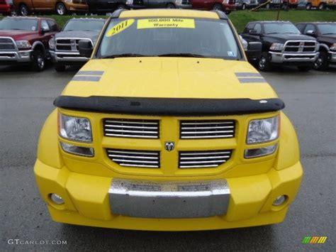 Detonator Yellow 2011 Dodge Nitro Shock 4x4 Exterior Photo
