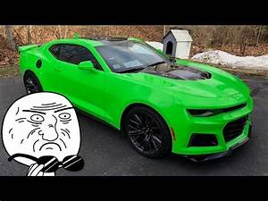 The KRYPTON GREEN 2017 Camaro ZL1