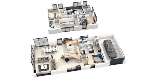 plan de maison moderne 4 chambres 3d qq89 jornalagora