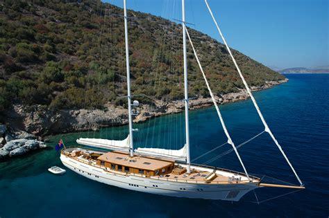 40m archipelago modern classic sailing yacht zanziba at anchor yacht charter superyacht news