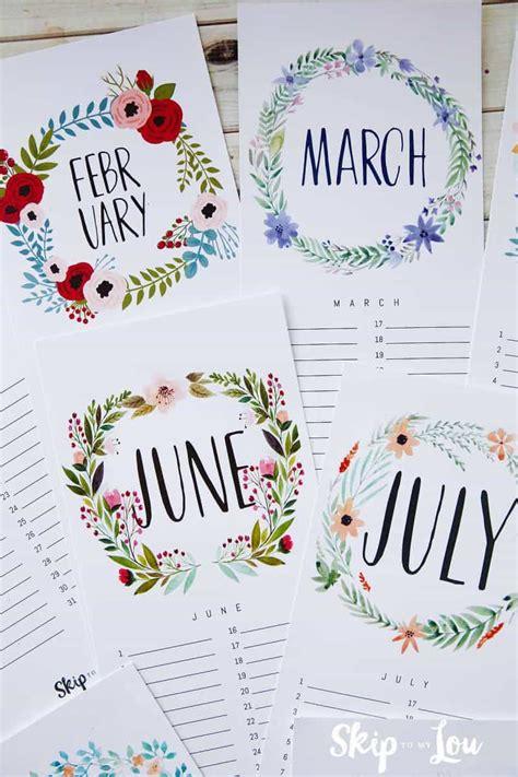 printable calendar updated skip   lou