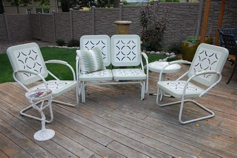 Patio Lawn Furniture by 25 Photo Of Metal Patio Furniture Sets
