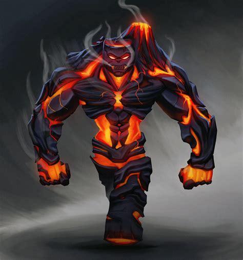 ArtStation - Lava monster remake, P. Henrikque
