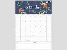 Cute Printable Calendar 2019 Monthly Printable Calendar