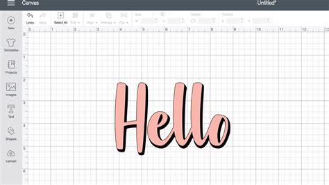 create  offset text shadow  cricut design space youtube