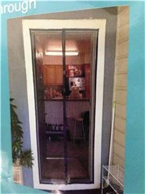 buy 82x40 quot portable magnetic screen mesh door black