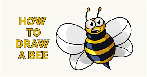 draw  cartoon bee easy drawing guides