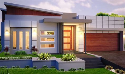 Single Level Home Designs by Single Story Contemporary House Single Story Modern House