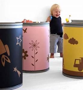 Contenedores de cartón para guardar juguetes : Originales contenedores de cartón reciclado para