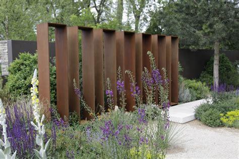Sichtschutz Garten Cortenstahl by Rost Cortenstahl Zinsser Gartengestaltung