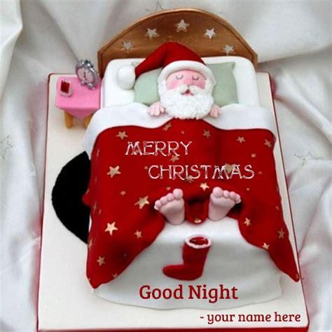 santa claus sleeping bag good night wishes  editing
