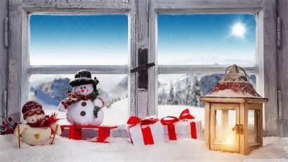 Christmas Town Wallpapers Winter Holiday Snow Lantern