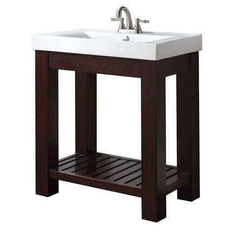 bathroom vanity with shelf 31 inch single bathroom vanity with open shelf