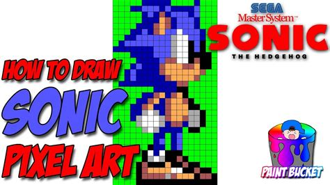 How To Draw Sonic The Hedgehog 8-bit