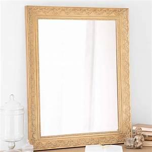 Miroir Maison Du Monde Industriel : miroir en bois de paulownia dor h 90 cm valentine maisons du monde ~ Teatrodelosmanantiales.com Idées de Décoration