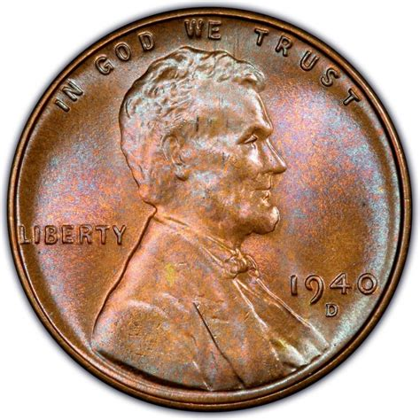 wheat pennies 1940 lincoln wheat pennies values and prices past sales coinvalues com
