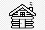 Cabin Log Clip Clipart Coloring sketch template