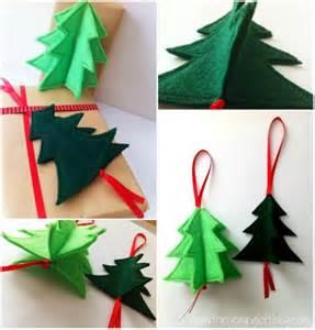 3d holiday ornament easy 3d felt christmas tree ornament