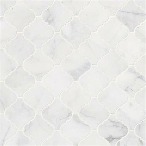 msi calacatta cressa arabesque honed marble mosaic tile