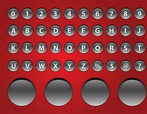 shiny alphabet buttons free vector in adobe illustrator ai With alphabet letter buttons