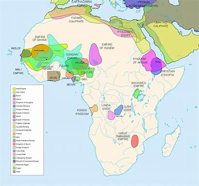 Africa African Kingdoms Map Colonial Pre Civilizations