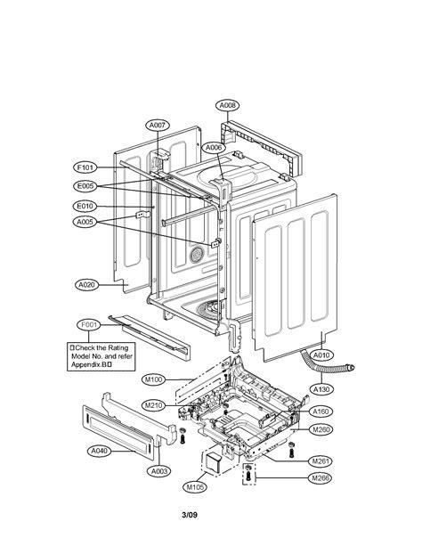 lg dishwasher parts model ldfst sears partsdirect