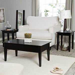 Black coffee and end table sets furniture roy home design for Black coffee table sets