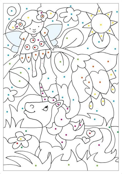 malen nach farben elfen feen einhoerner tessloff