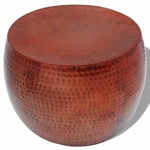 Table Basse Ronde Aluminium : acheter vidaxl table basse ronde aluminium avec finition en cuivre marron pas cher ~ Teatrodelosmanantiales.com Idées de Décoration