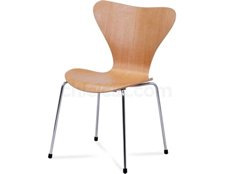series 7 chair by arne jacobsen platinum replica