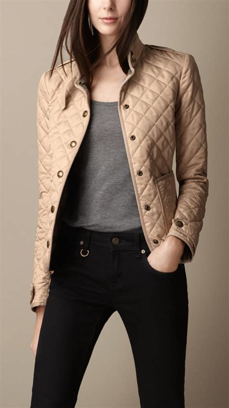 quilted jacket womens lyst burberry heritage quilted jacket in