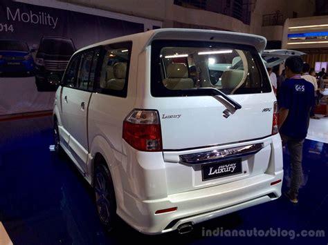 Suzuki Apv Luxury Backgrounds by Suzuki Apv Luxury Mpv Launched Iims 2014 Live