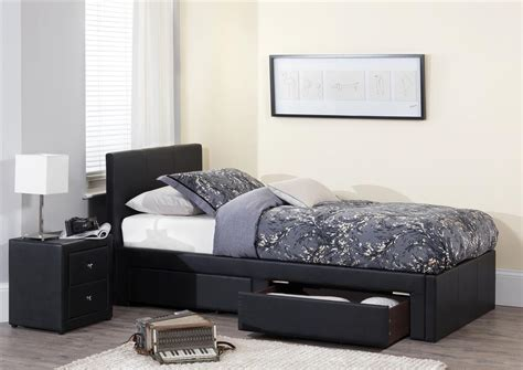 Leather Bed by Serene Faux Leather Bed Frame