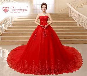 2016 korean high waist long red bow tail wedding dress With long red dress for wedding