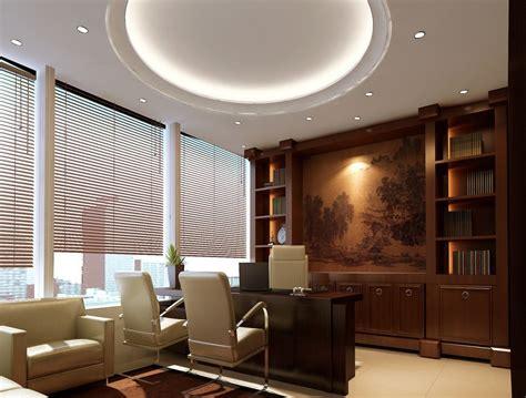 Wonderful Lighting On Nice Ceiling Inside Office Interior