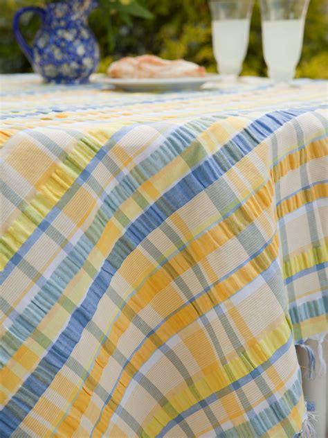 Provence Seersucker Tablecloth  Linens & Kitchen