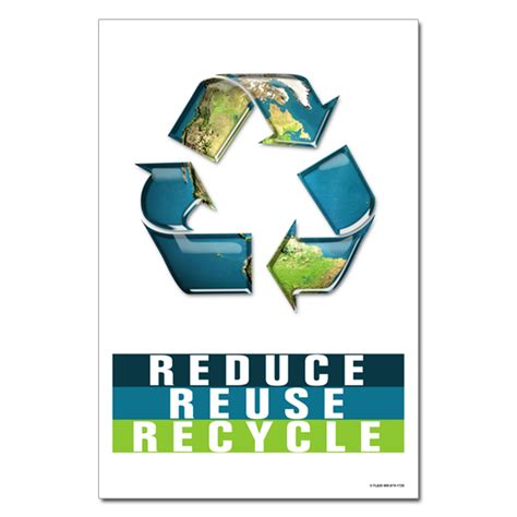 ai rp  reduce reuse recycle recycling poster