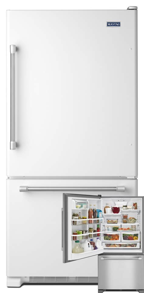 maytag refrigerator freezer bottom start