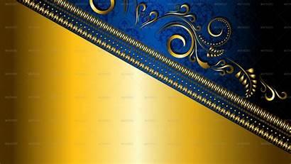 Desktop Gold Background Border Navy Floral Graphicriver