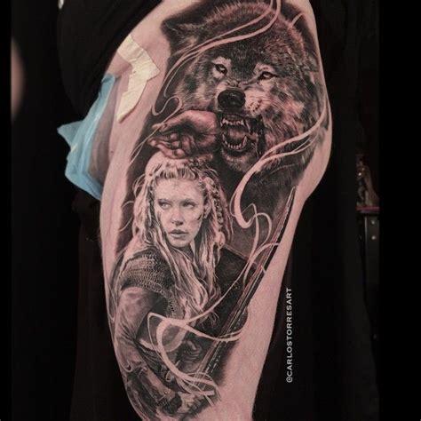 viking wolf tattoo