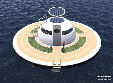 Flying Ufo Boat by Grid Ufo Home Is Completely Powered By Wind Water And