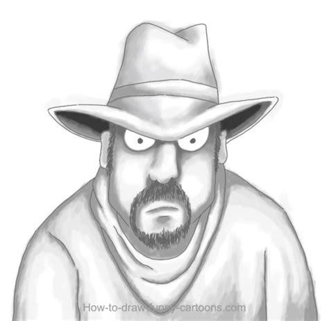 cowboy drawing cartoon painting