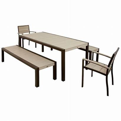 Furniture Patio Bench Seating Benches Resin Dining