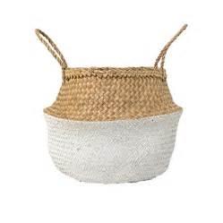 buy bloomingville neutralwhite basket amara
