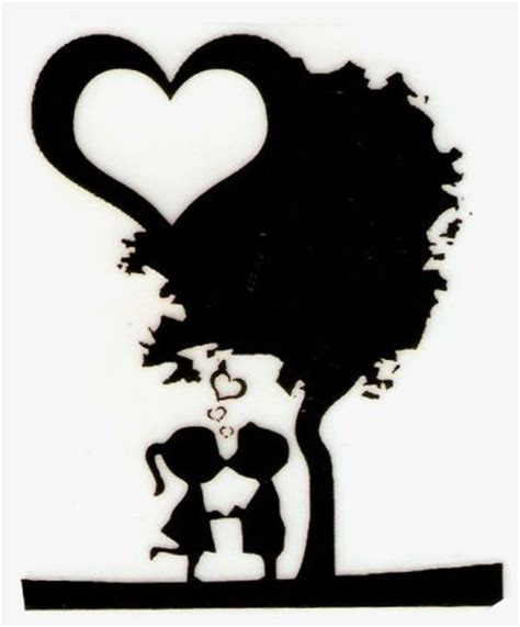 boy girl kissing tree silhouette iron  transfer ebay