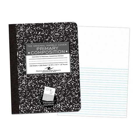 roaring 97228 primary marble composition book 278 | RSP 97228 24pk